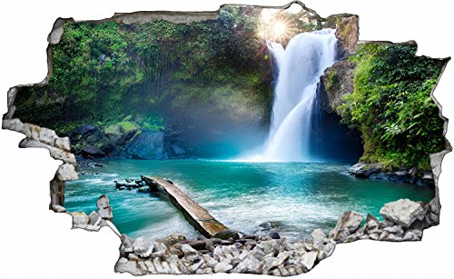 Wasserfall See Natur Wasser Wandtattoo Wandsticker Wandaufkleber C0407 Größe 120 cm x 180 cm