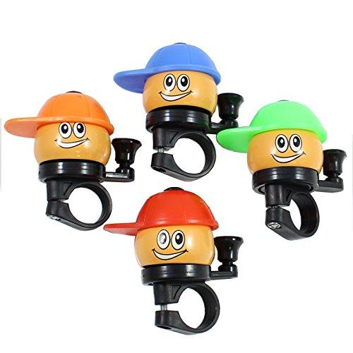 Lustige Fahrradklingel in verschiedenen Farben mit Gesicht Für Kinder Klingel für den Fahrrad Lenker - keine Farbauswahl möglich