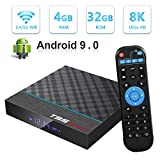 Android TV Box, T95 Max+ Android 9.0 TV Box 4GB RAM/32GB ROM Amlogic S905X Quad-Core Support 2.4Ghz/5.0Ghz WiFi 8K HDMI Bluetooth 4.0 DLNA 3D Smart TV Box