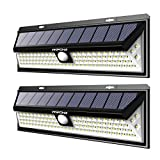 Mpow 102 LED Solar Lights Motion Sensor, Super Bright Wall Light, 3 Optional Lighting Modes, Large Solar Panel, 120�� Sensing Angle, Weatherproof, Great Outdoor Light for Garden, Driveway, Pathway(Pack of 2)