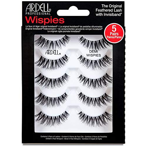 Ardell Multipack Wimpern 5 Pack - Demi Wispies Black, mit free Precision Lash Applicator