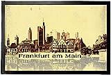 1art1 94185 Frankfurt - Städte-Collage, Vintage Style