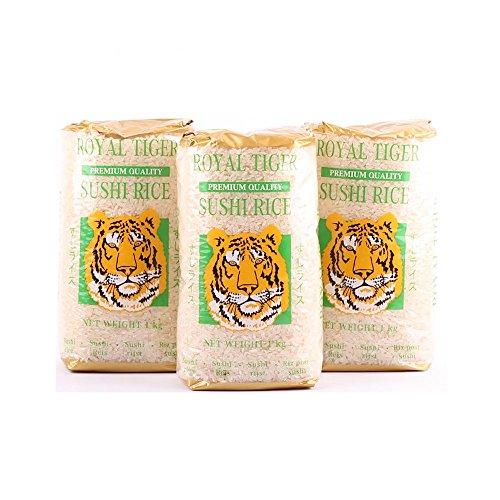 3 x 1kg Royal Tiger Sushireis Reis aus Portugal Risottoreis Rundkorn Sushi Risotto