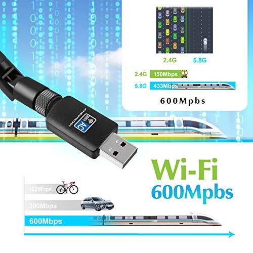 5.8G//866Mbps Adattatore di rete USB 3.0 con AP Pattern e funzione WPS compatibile con Windows 2.4G//300Mbps Adattatore WiFi Dual Band Wireless Mini 1200Mbps AC Mac OS