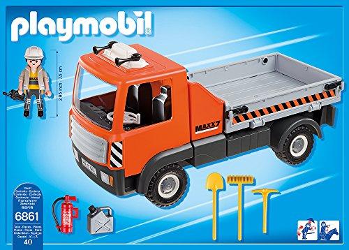 PLAYMOBIL 6861 – Baustellen-LKW, Spielwerkzeug - 3