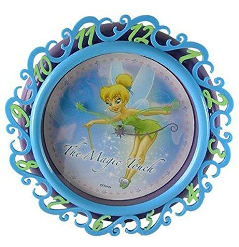 Blau und Grün Disney Faries Tinkerbell Wanduhr