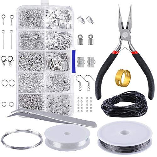 JUSTDOLIFE Schmuckherstellung Kit Schmuck Reparatur Werkzeug Schmuckzubehör Set