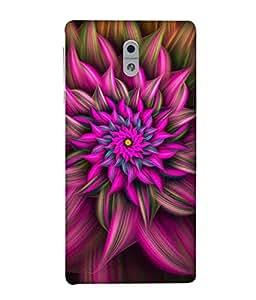 Fuson Designer Back Case Cover for Nokia3 (Flowers Pink Flower Purple Flower Blue Flower Floral Petals)