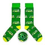 CUP OF SOX Baumwolle Lustige Socken in der Pappbecher - Perfekt als Geschenk für Männer und Frauen - Bulli/Bus/Samba (Grün, 37-40)