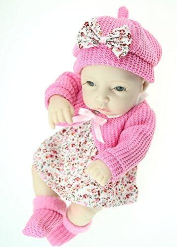NPKDOLL Réincarné Bébé Poupée Dur Silicone 11 Pouces Baby 28Cm Floral Étanche Jouet Jupe Fille Rose Reborn Baby Pouces Doll A1FR B016IJ9PEI 477554