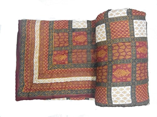 Avighna Traditional jaipuri Bagaru printed 100% cotton Double bed Quilts/Razai Size 90 X 105 Inch Approx