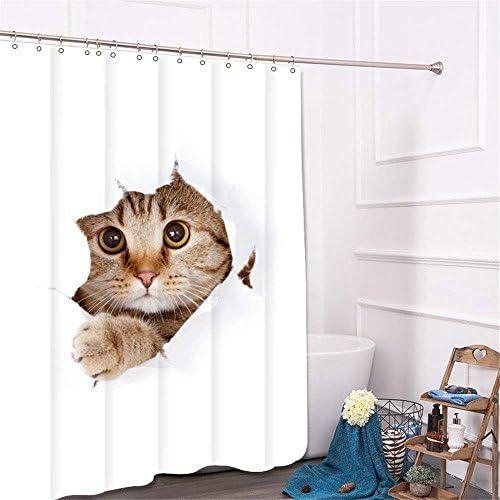 LILI Il Nordic gattino minimalista simitende da cartoon doccia cartoon da tenda doccia tessuto impermeabie resistente alla muffa tende wc,180 * 180cm tenda ab01af