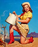 JH Lacrocon Impresiones Lienzo Chicas Pin-Up Poster 40X50cm Foto Cuadro Decoracion Tops In Service 1958 Gil Elvgren Imagen Pared Vintage
