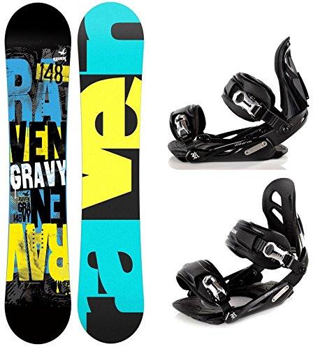 Snowboard Set: Snowboard Raven Gravy Gullwing + Bindung Raven s250 Black M/L