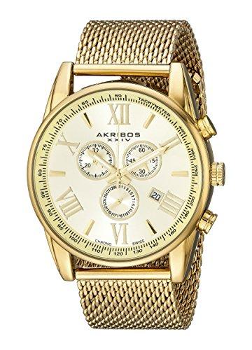 512EWv6w92L - Akribos XXIV AK813YG Gold Mens watch