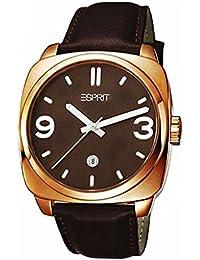Esprit Herren-Armbanduhr Conduit Rosegold Brown Analog Quarz Leder ES103611004