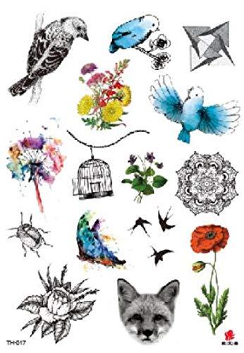 Kostüm Hunde Katze Dem Auf Rücken - Temporäre Tattoos Fake Tattoos Sticker Blume Vogel Katze Hund Tattoos Tattoos Wasserdichte Flash Tattoos Kunst Für Männer Frauen Mädchen
