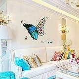 #2: UberLyfe Beautiful fly Butterfly Wall Sticker (Wall Covering Area: 56cm x 82cm) - WS-001360