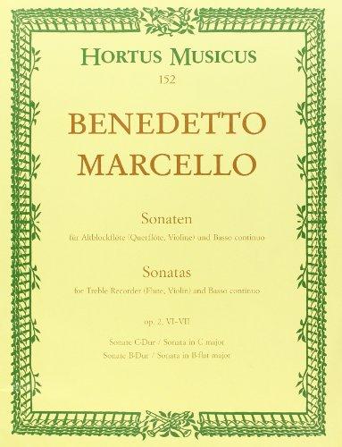 Sechs Sonaten für Blockflöte oder andere Melodie-Instrumente und Basso continuo op. 2 Sonaten Nr. 6 C-dur und 7 B-dur Heft 3