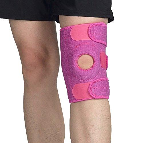 Kniebandage- Knieschoner,Fullmosa Will Serie Atmungsaktives Open Patella & Dual Stabilizer mit verstellbaren Klettverschlüssen, Anti-Rutsch-Design Knieschutz für Laufen, Sport, Arthritis und Verletzungen -Rs