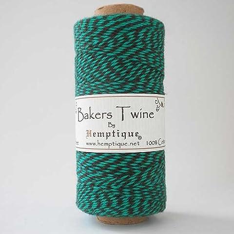 Hemptique 125 m/2 bobina de hilo de algodón cordón de pastelero de fuerza media, Coco verde/Multi-color