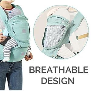 512EZk2HP L. SS300  - Mochila portabebés, Fular portabebés, InnoBeta portabebés Ergonomica con Múltiples posiciones para llevar a tu bebe…