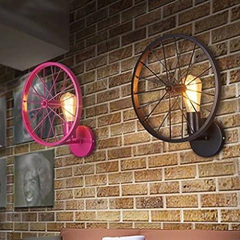 Ristorante personalità creativa lampada di Muro retrò Barra di stile loft Country Americano lampade in (2 Ferro Loft)