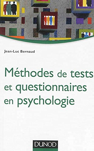 Mthodes de tests et questionnaires en psychologie