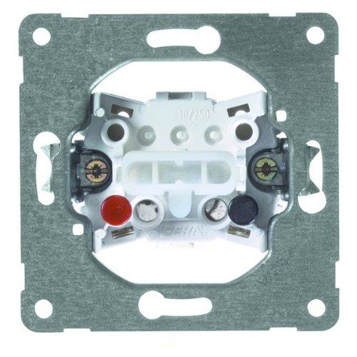 PEHA 00190811 Grundelement Taster mit Steckklemmen für alle Unterputz-Programme 10 A 250 V, 1-polig, Serientaster, 2 Schließer