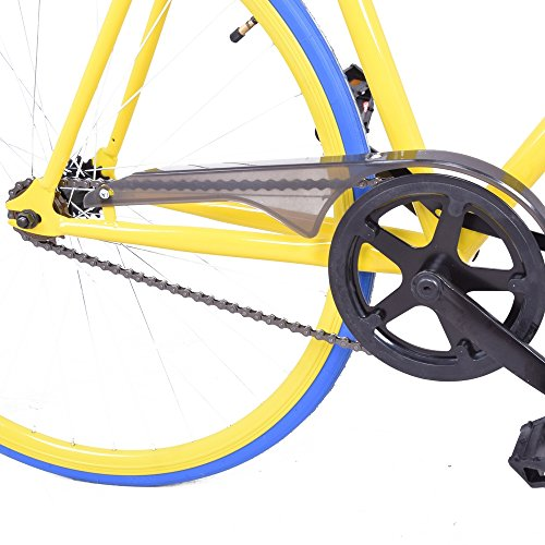 Royal London Fixie Fixed Gear Single Speed Bike Yellow/Blue
