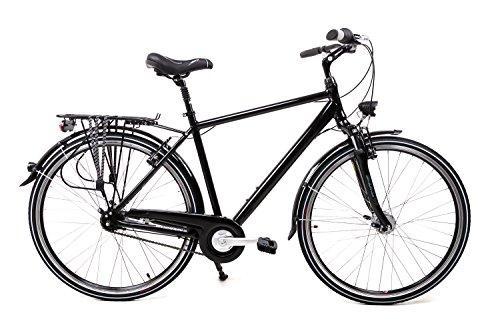 "28\"" Zoll Alu Fahrrad Herren City Bike Shimano Nexus 7 Gang Nabendynamo Schwarz"
