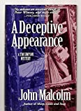 Front cover for the book A Deceptive Appearance by John Malcolm