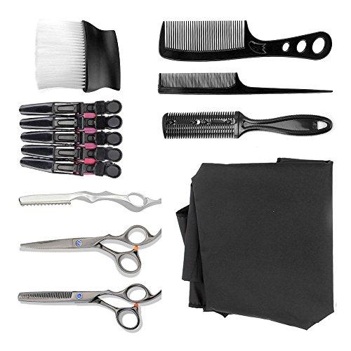 Neverland 9PCS Friseur Anzug Haarschnitt Tools Friseur-Haarschere Set Barber Hals Pinsel Feder Schnitt Friseur Rasieren Rasierer (Feder-haar-scheren)