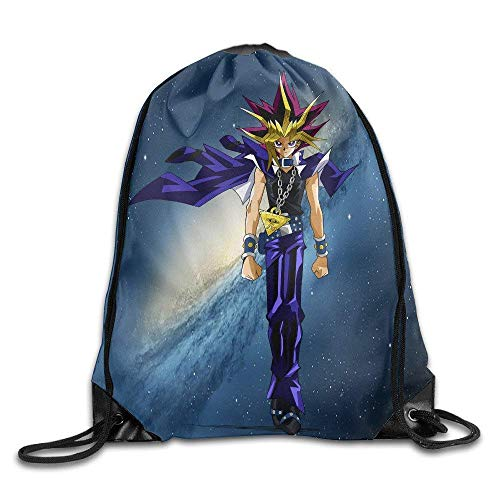 DHNKW Yu Gi Oh Card Game Animation Drawstring Bags Easy to Carry Backpack