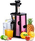 CUH 150W Professional Slow Juicer for Highly Efficient Fruit Vegetable Juice Extraction Luxury Purple - Quiet Motor, Juice Container, Pulp Container & Cleaning Brush Included