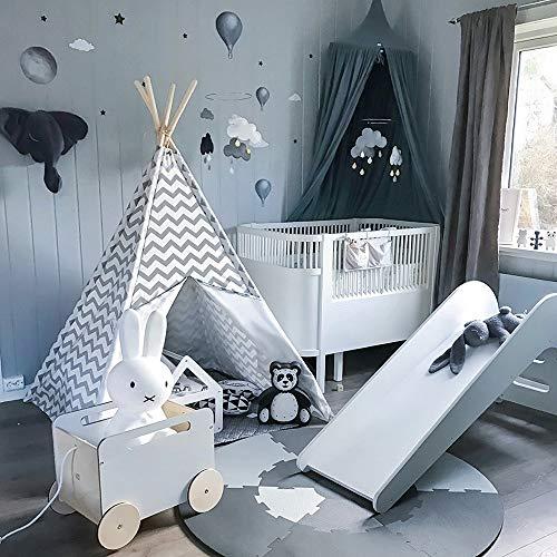Land Möbel Lagerung (ADATEN Kinder Indianer Tipi Streifen Leinwand Falten Tragbar Drucken Zelt Kinder Wigwam Möbel Mit Fenster Boden Spielen Haus Spielzeug Jungen)