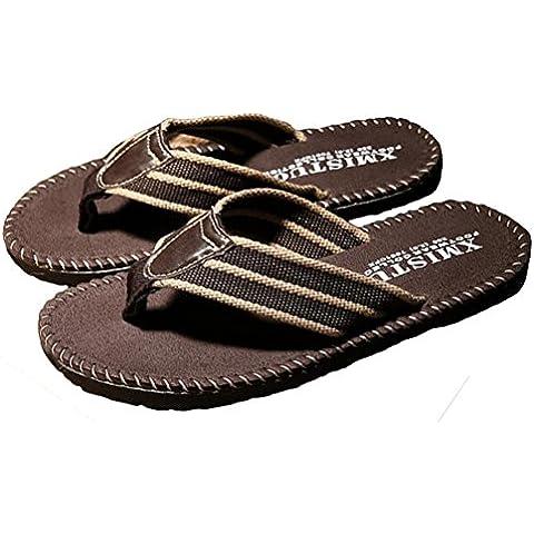 Auspicious beginning Tessuto Tela Discussione Thong flip casuale sandali di