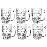 Union Juice, Beer Mug (Set of 6 PCS) Made in Thailand 600ML