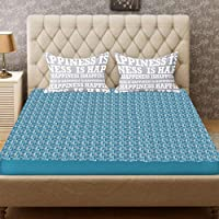 LOOMANTHA Plastic Sheet for Double Bed for Adults and Baby (Sky Blue, Random Colour, 6.5x6 ft)