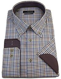 Seidensticker Herren Langarm Hemd Splendesto Regular Fit Button-Down-Kragen BD Club Sleeve Patch mehrfarbig kariert 388628.27