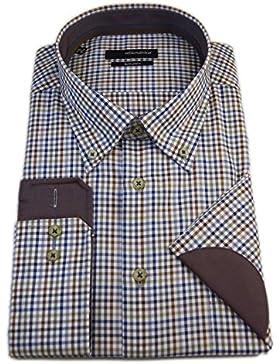 Seidensticker Herren Langarm Hemd Splendesto Regular Fit Button-Down-Kragen BD Club Sleeve Patch mehrfarbig kariert...
