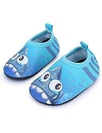JIASUQI Baby Barefoot Swim Water Skin Shoes Calcetines Aqua para Piscina de  natación en la Playa 207a51c7ad1