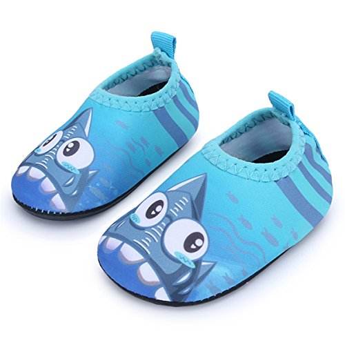 JIASUQI Baby Barfuß Quick Dry Comfort Casual Wasser Schuhe Socken, Blue Shark 18-24 Monate (Herstellergröße : 21/22) - Wasser Shark