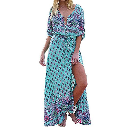 NINGSANJIN Frauen-reizvolle Strand-Sommer-langes Kleid kleidet Strand-Kleider Strand vertuschen Rock Bikini Bademode Coverup Wrap Rock Badeanzug (Gr¨¹n, XL) (Skirt Wrap Set)