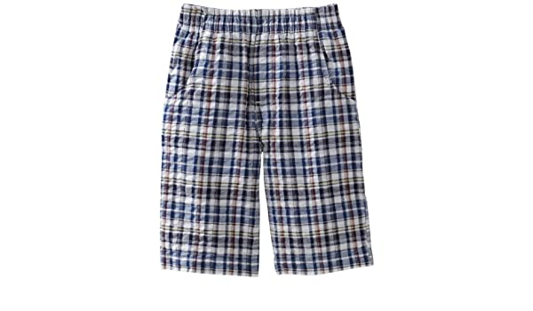 Wes and Willy Big Boys Elastic Waist Plaid Seersucker Short