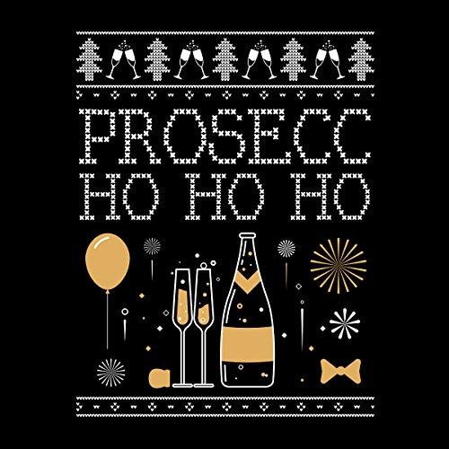 Prosecc Ho Ho Ho Christmas Knit Men's Vest Black