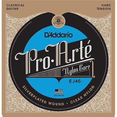 D'Addario EJ46 - Juego de cuerdas para guitarra clásica de nylon (tensión alta)