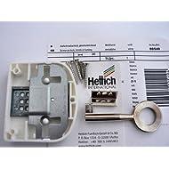 Hettich Aufschraubschloß mit Schlüssel gleichschließend weiß, Dornmaß: 30 mm, 1 Stück, Artikelnr. 549