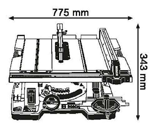 Bosch GTS 10 XC Professional Tischkreissäge, 2.100-Watt-Motor mit Motorbremse, Schnitthöhen bis 79 mm, Sägeblattdurchmesser 254 mm, Karton, 0601B30400 - 7