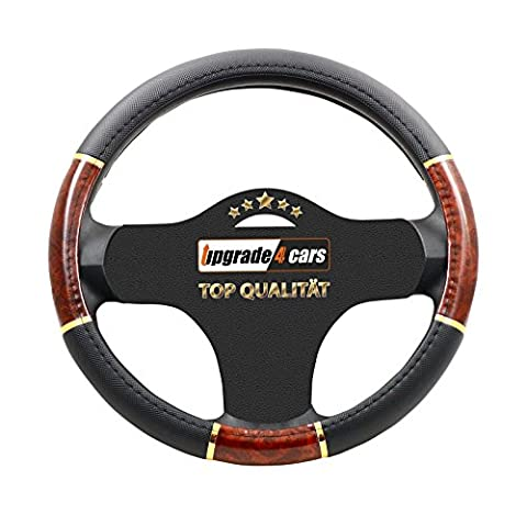 Steering Wheel Cover Leatherette PU Leather Protector universal fit Ø